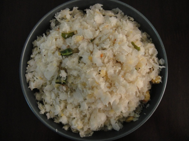 A Mangalorean rice flakes (Bajil) delicacy